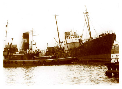 S.T. CERVIA towing for ITL in the 1970's.
