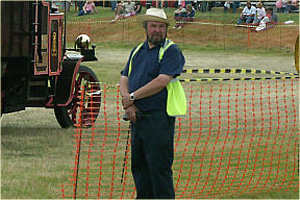 Michael Cates (aka 'the ringmaster') busy organising Preston Rally in June.